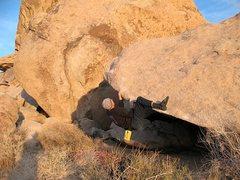 Rock Climbing Photo: PGD Arete (V2), Joshua Tree NP