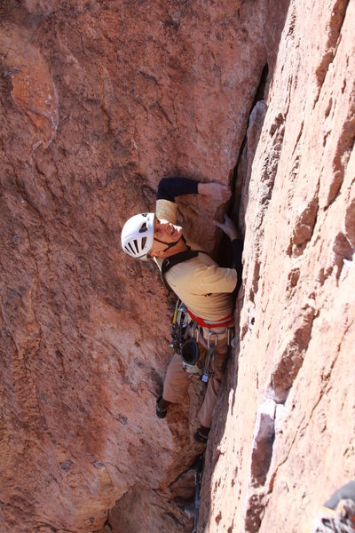 "Rock Climbing Photo: Roland M. doing a retro trad accent of ""ga st..."