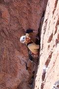 "Rock Climbing Photo: Roland M. doing a retro trad accent of ""ga st..."