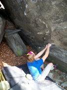 "Rock Climbing Photo: Travis Melin on the sit start to ""Billy Budd&..."