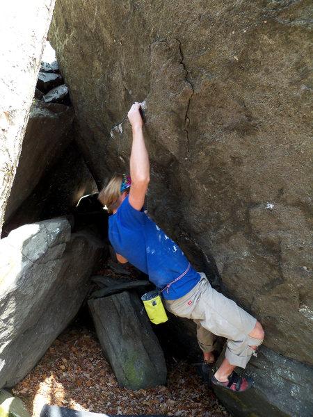 "Rock Climbing Photo: Travis Melin on ""Billy Budd"" (V-4) on th..."