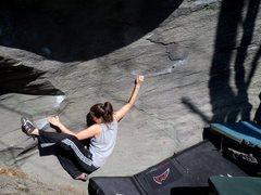 "Rock Climbing Photo: Lanie Alfaro on ""Robot Love"" (v-1+). Cuo..."