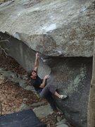 "Rock Climbing Photo: Aaron Parlier on ""Thews"".."