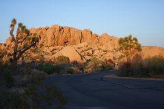 Rock Climbing Photo: Sunsetting at Jumbo