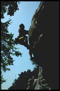 Rock Climbing Photo: Pulling round on Belle Vue Terrace
