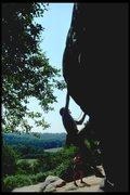 Rock Climbing Photo: Dave starting Belle Vue Terrace