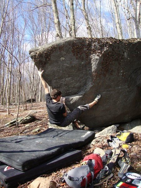 """Rock Climbing Photo: Aaron Parlier on """"River Patrol"""" on the R..."""
