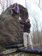 """Rock Climbing Photo: Vanessa Keller on """"Ranger Rick"""" (V-0+) o..."""
