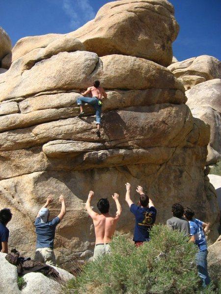 Rock Climbing Photo: Approaching the crux of Betty Jo Yablonksi