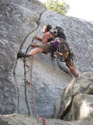 Rock Climbing Photo: First Trad Lead! Swan Slab, Yosemite