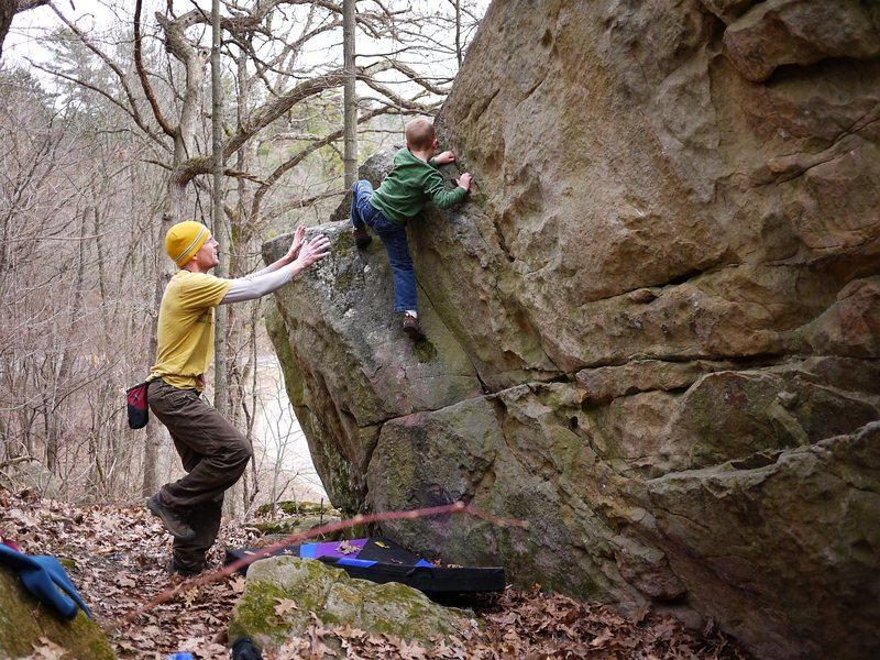 "Rock Climbing Photo: Luke on an FA, I think he called it ""Child's ..."