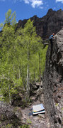 Rock Climbing Photo: Christian Prellwitz 'Point Break' (V2).