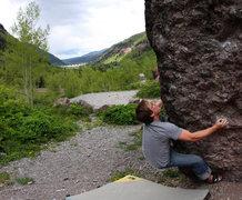 Rock Climbing Photo: Noah Sheedy 'Sunshine Arete' (V0+).