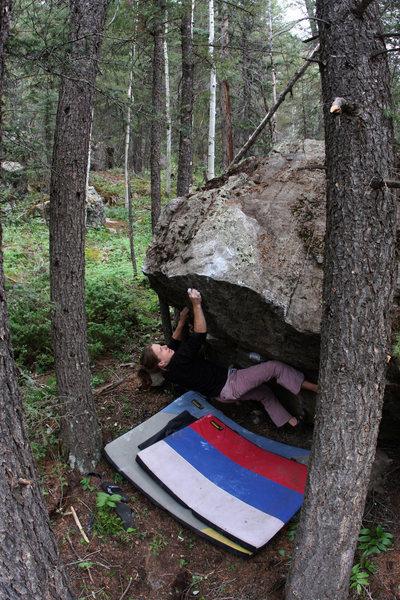Rock Climbing Photo: Dasha Zamolodchikov 'Snake Hole' (V2).