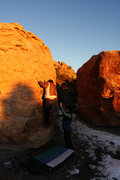 Rock Climbing Photo: Sarah Carden 'Sunshine Arete' (V0).