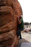 Rock Climbing Photo: Christian Prellwitz 'A Train' (V4).