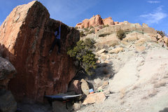Rock Climbing Photo: Lexi Tuddenham 'Juniper Center' (V0+).