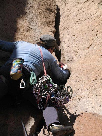 Rock Climbing Photo: Starting up Potluck.