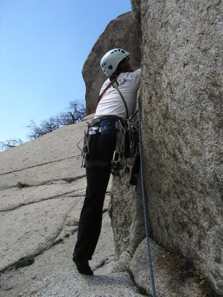 Rock Climbing Photo: Reducing rope drag by breaking up the pitch, the P...