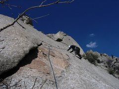 Rock Climbing Photo: Patty finishes Lazarus by traversing over to the F...