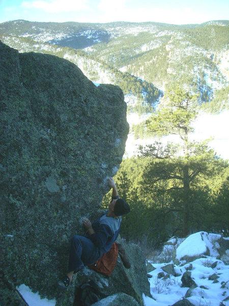 Rock Climbing Photo: High Drifter, V5/6.