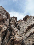 Rock Climbing Photo: looking up from about halfway up the route.