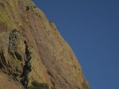 Rock Climbing Photo: This is the SW face from the approach trail.  I ha...
