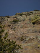 Rock Climbing Photo: Dan Millis leading the topo's 7th pitch (our 5th)....