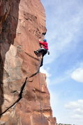Rock Climbing Photo: The pronounced crux moves are right here above the...