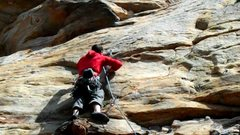 Rock Climbing Photo: G-String goes out the right side of the roof seen ...