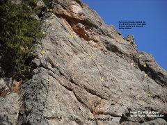 Rock Climbing Photo: Salt Block Rock moderate topo.