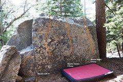 Rock Climbing Photo: North East face Topo