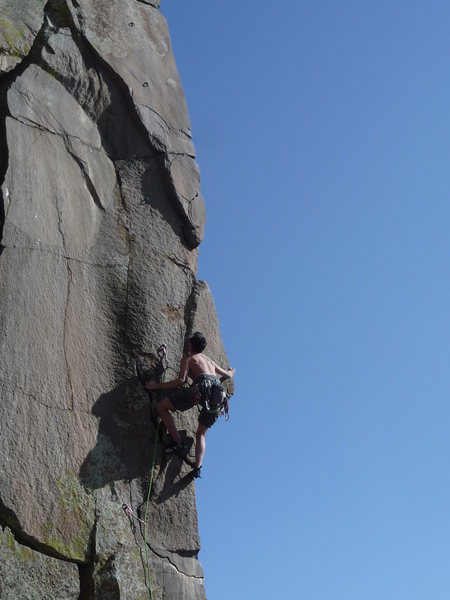 Rock Climbing Photo: Getting it done.