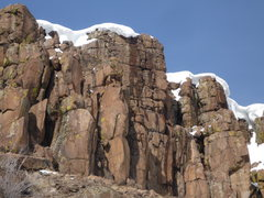 Rock Climbing Photo: Beware of falling cornices!