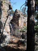 Rock Climbing Photo: The Corner Block from the West.