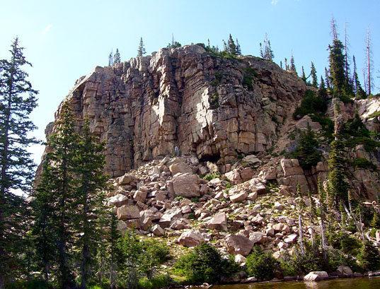 Rock Climbing Photo: Cliff Lake