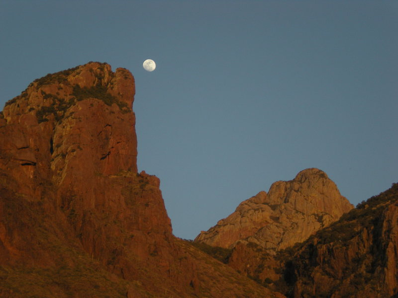 Rock Climbing Photo: Moonrise over Babo & friends