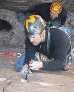 Rock Climbing Photo: It's good to color coordinate your helmet and clot...