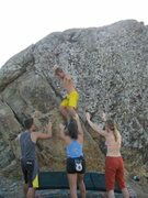 Rock Climbing Photo: Another shot taken at the Oyster pond boulder.