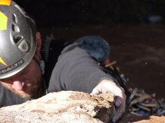 Rock Climbing Photo: One of the few buckets on Javelina Hardman