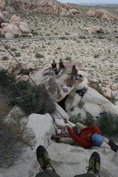 Rock Climbing Photo: Hang'n at the base of the Varnished Wall.