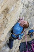 Rock Climbing Photo: Kate at the start.