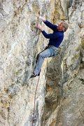 Rock Climbing Photo: Dave Groth shining. March 2010.