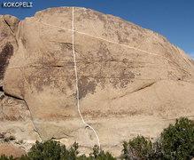 "Rock Climbing Photo: ""Kokopeli"". Photo by Blitzo."