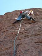 Rock Climbing Photo: 'Canada' Eric Ruljancich on lead; Cold rush - pitc...