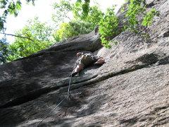 Rock Climbing Photo: FA of Mean Streak
