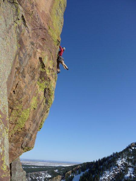 Rock Climbing Photo: Lisa Stern stylin' on Psycho Pigeon.