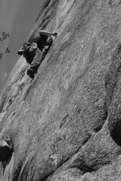 """The lower crux on """"Deliverance on the Truckee."""""""