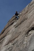 Rock Climbing Photo: Toping out on an onsight ascent.