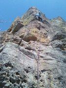 Rock Climbing Photo: TJ on Polaroid.